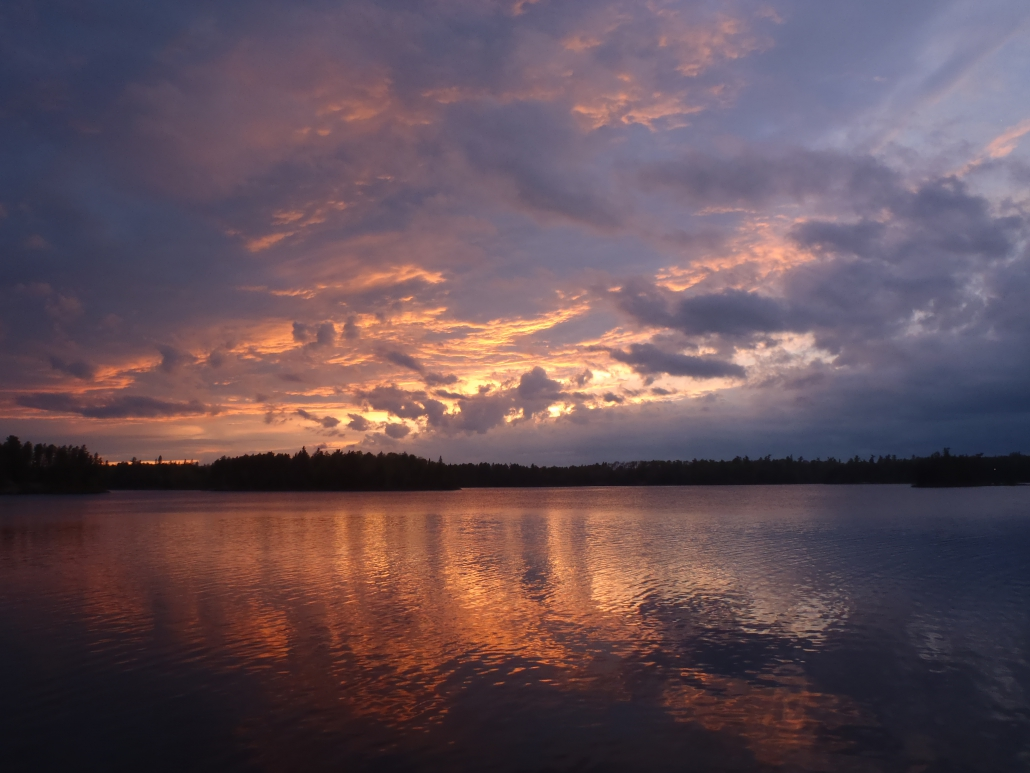 Lake Two sunset